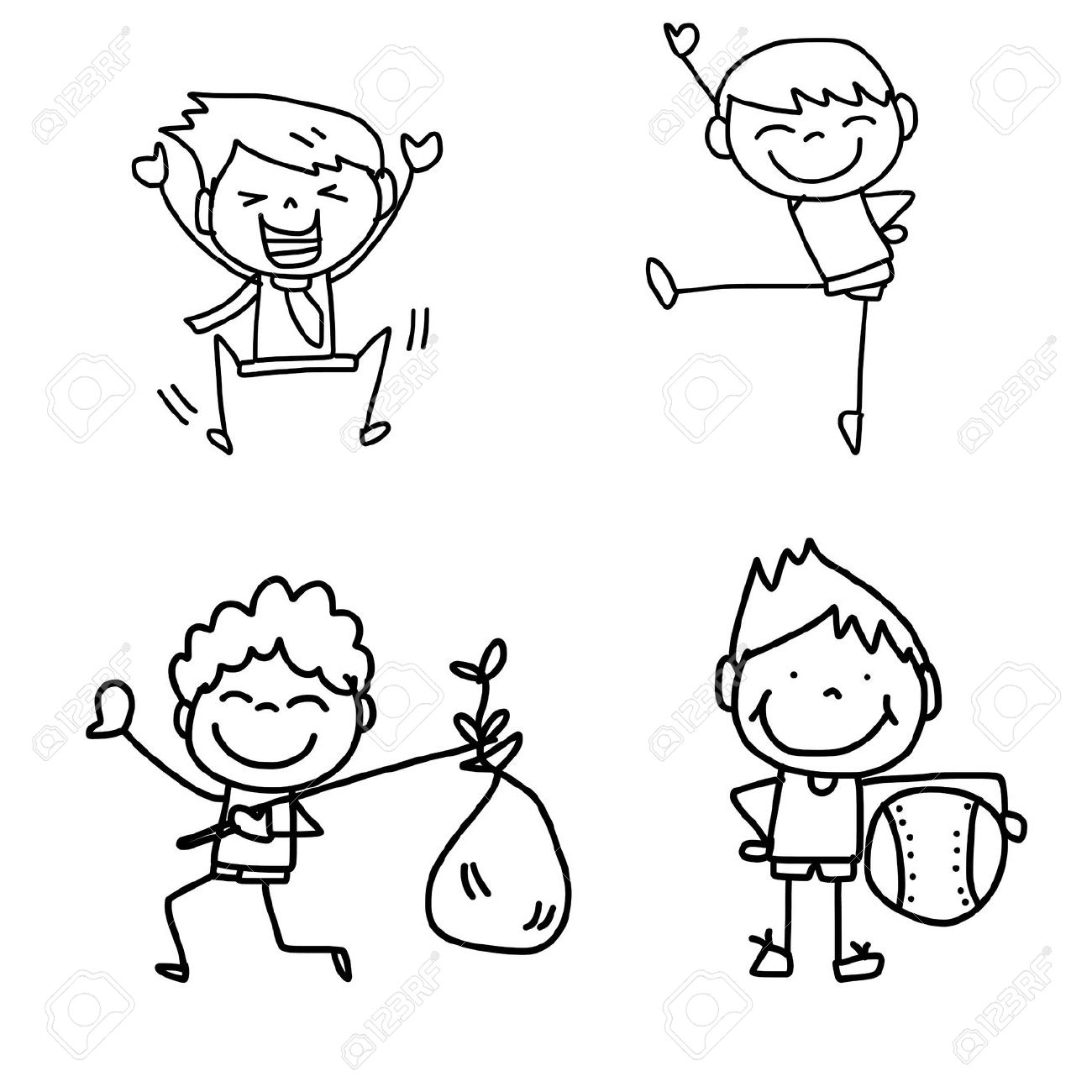 1300x1300 Photos How To Draw Children Playing,