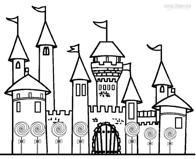 671x544 Castle Coloring Pages For Kids Printable Tags Castle Colouring