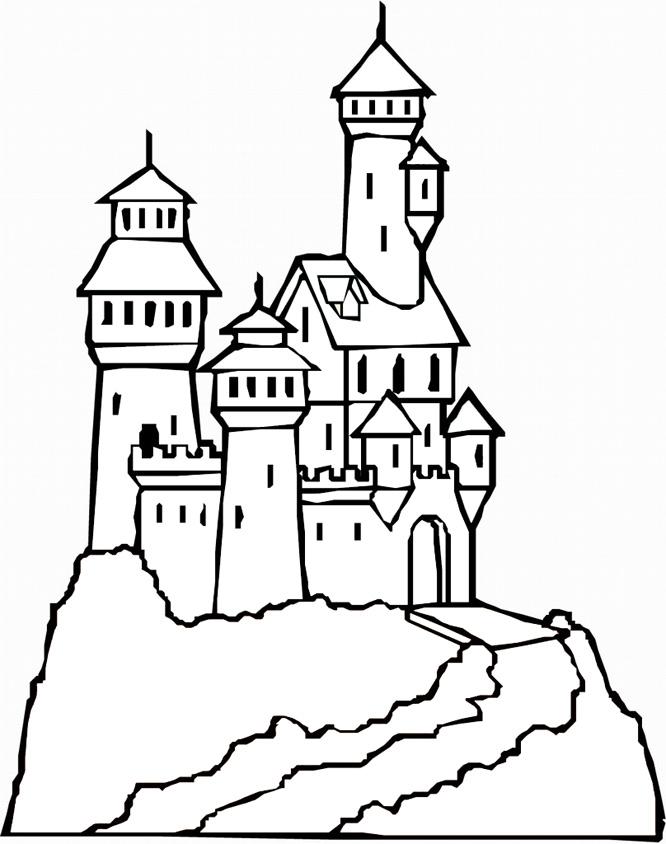 666x844 Castle Coloring Pages Pictures Printable Castles