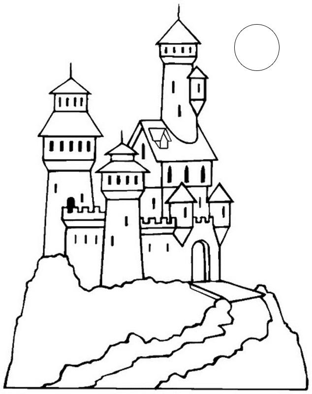 634x800 Divertidos Dibujos De Castillos Para Imprimir Y Colorear. Aprende