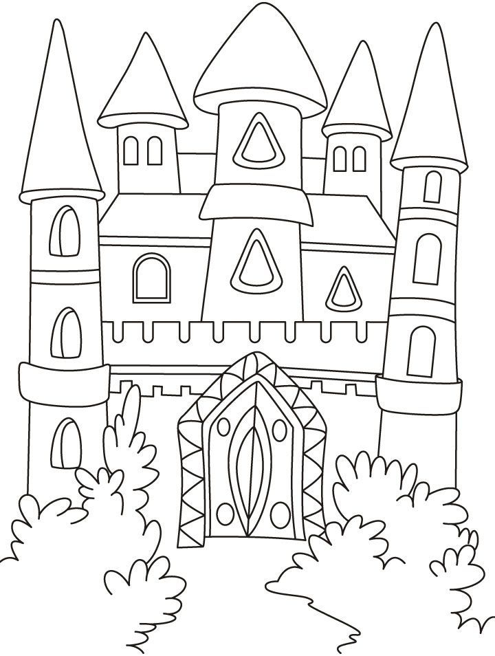 720x954 Download Or Print This Amazing Coloring Page A Magical Castle
