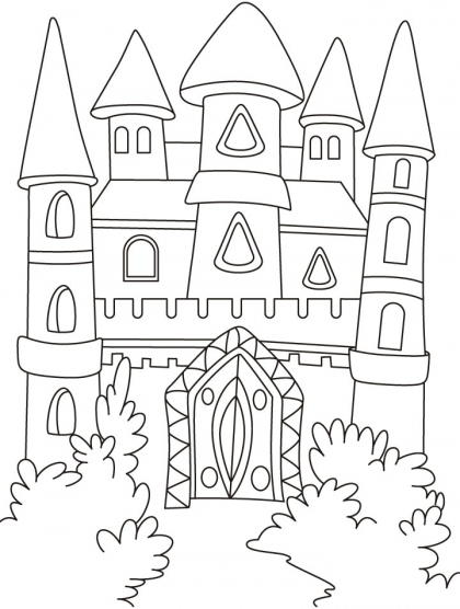 420x556 Magical Castle In The Forest Coloring Pages Download Free