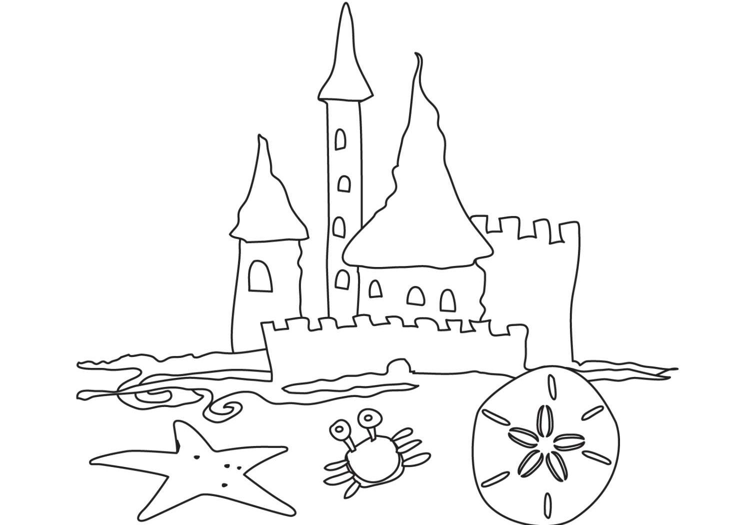 1500x1050 Free Printable Castle Coloring Pages For Preschool Wonderful