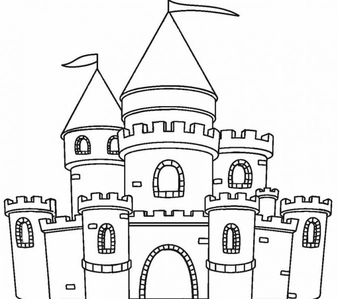 678x600 Inspiring Castle Coloring Page 23 In Coloring Pages Online