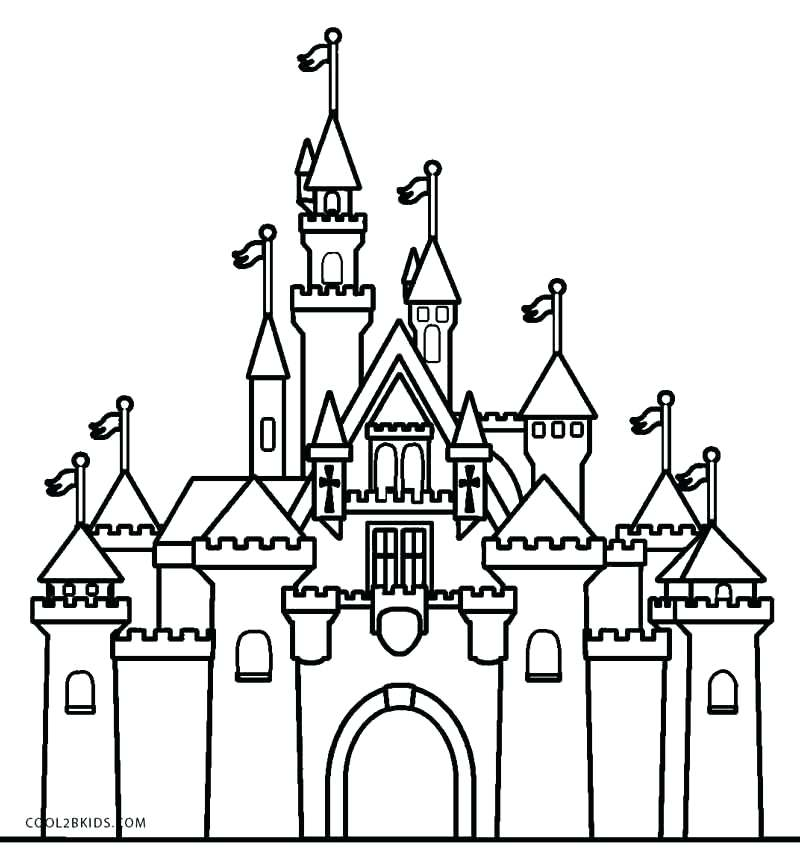 800x857 Awesome Remarkable Coloring Pages Castle Kids Printable