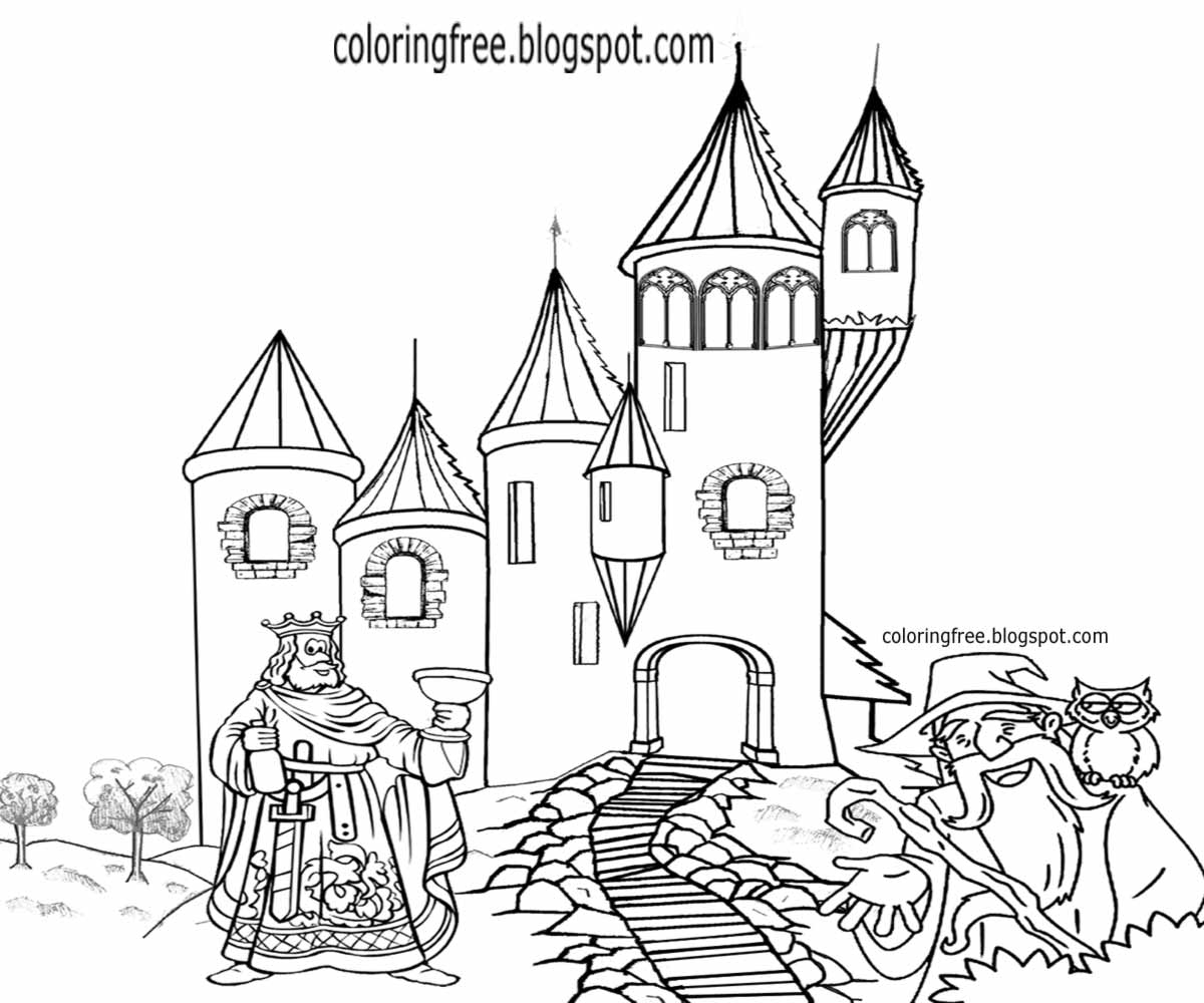 It is an image of Soft Castle Cartoon Drawing