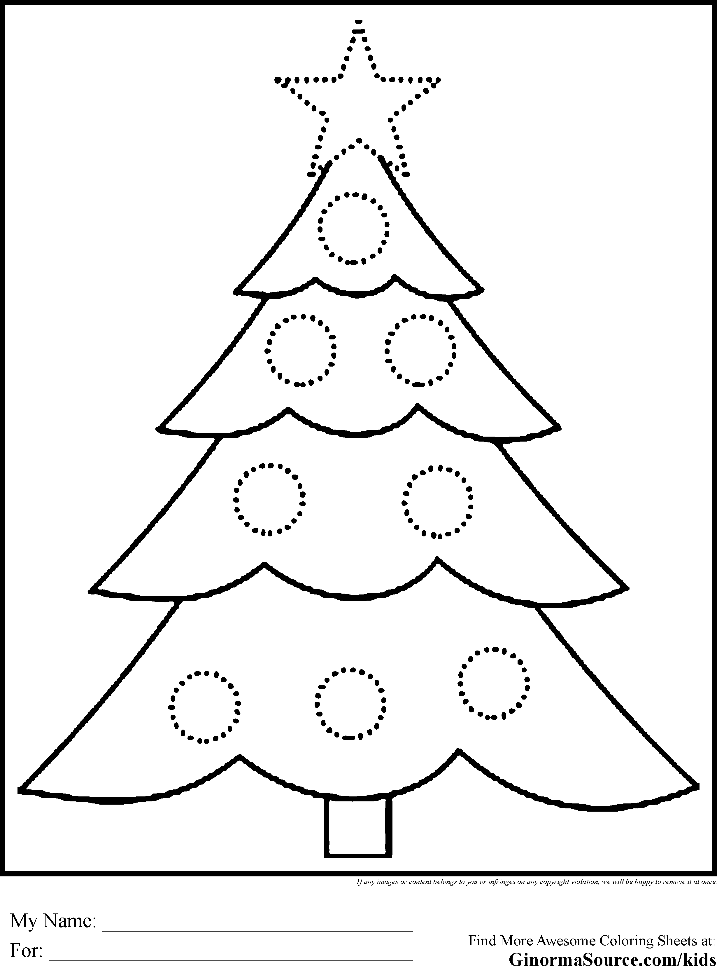 Kids Christmas Tree Drawing at