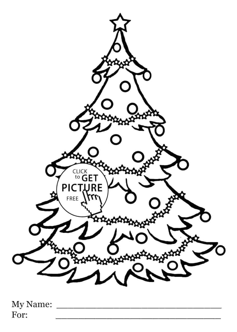 926x1297 coloring christmas trees for coloring - Coloring Christmas Trees