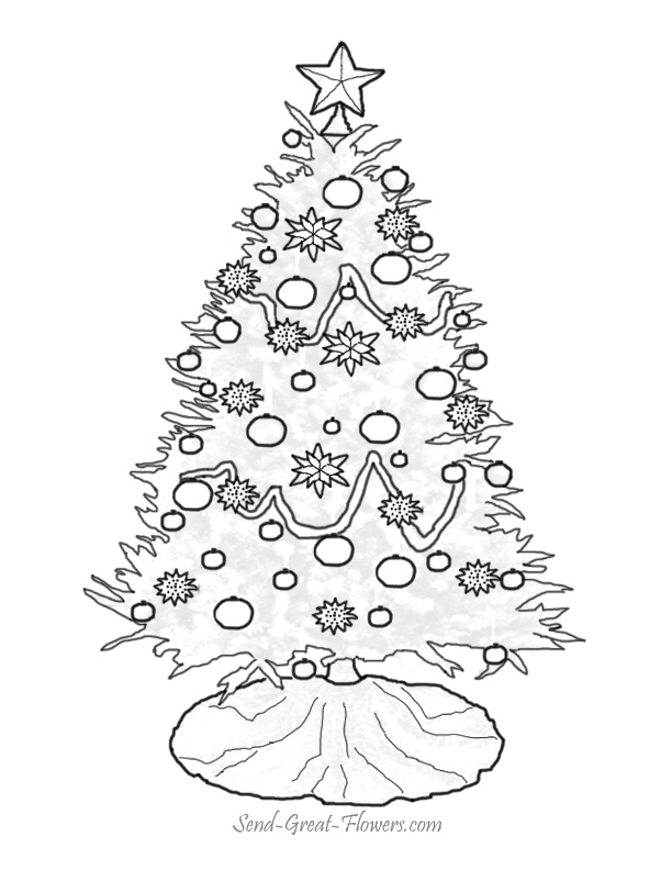 612x792 Christmas Tree Coloring Page Many Interesting Cliparts