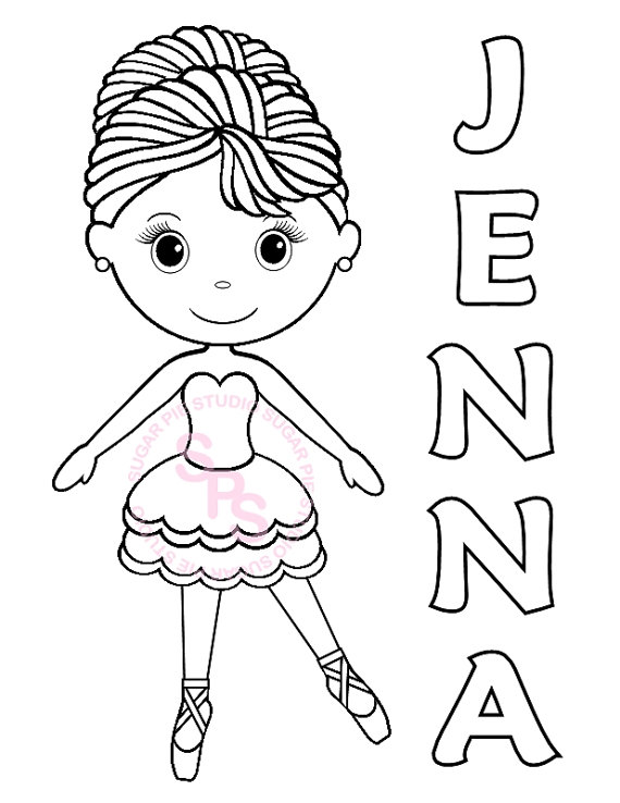 570x738 Ballerina Drawing For Kids Personalized Printable Ballerina Dance