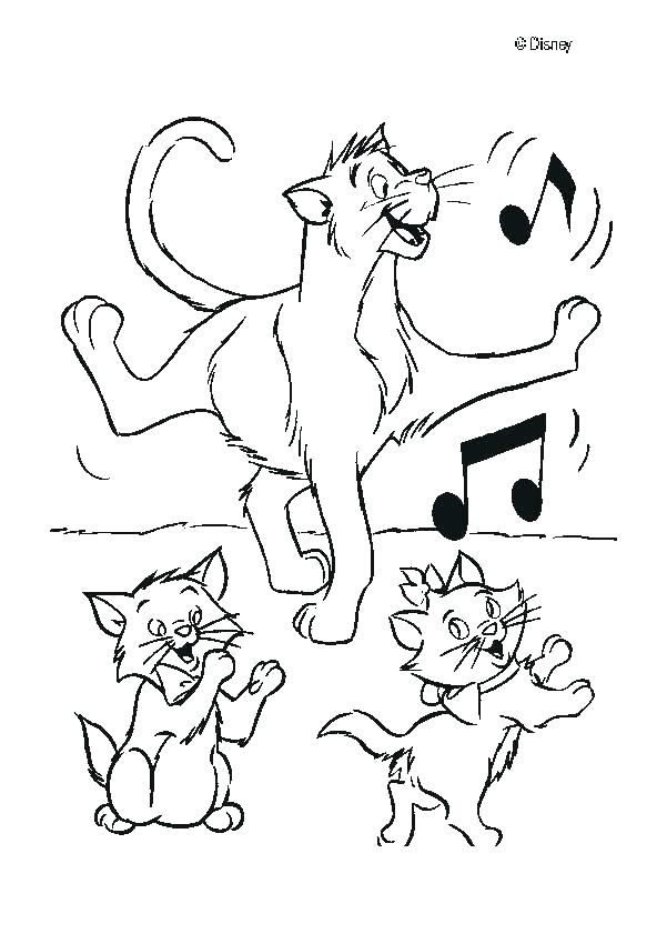 601x850 Awesome Aristocats Coloring Pages Image Magnificent Remarkable