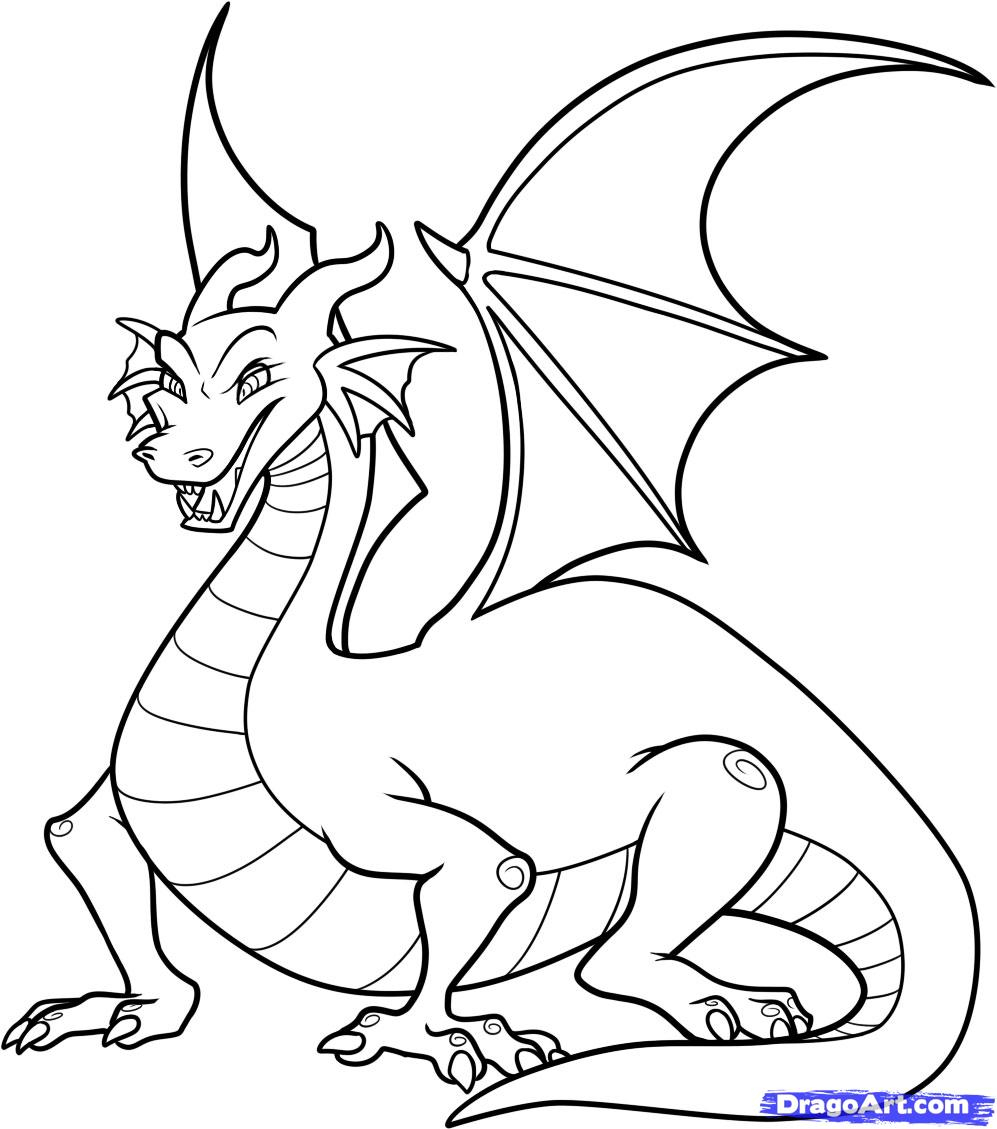 997x1129 Dragon Drawing For Kids Easy Dragon Drawings For Kids Stepstep