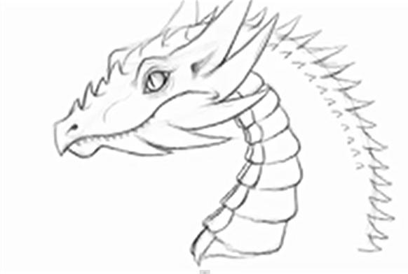 582x392 How To Draw A Dragon For Kids Flashy Magazine Dragon