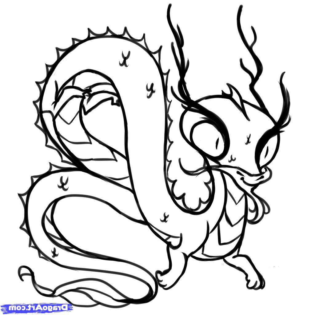 1024x1024 Simple Chinese Dragon Drawing Draw A Chinese Dragon For Kids Step