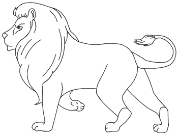 350x265 How To Draw A Lion For Kids