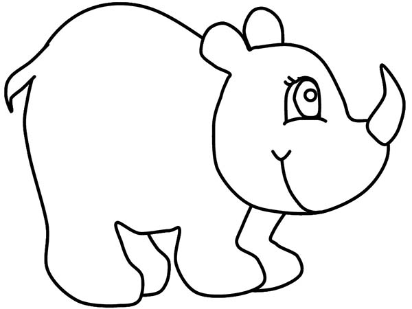 600x450 Kindergarten Kids Drawing Rhino Coloring Pages Batch Coloring