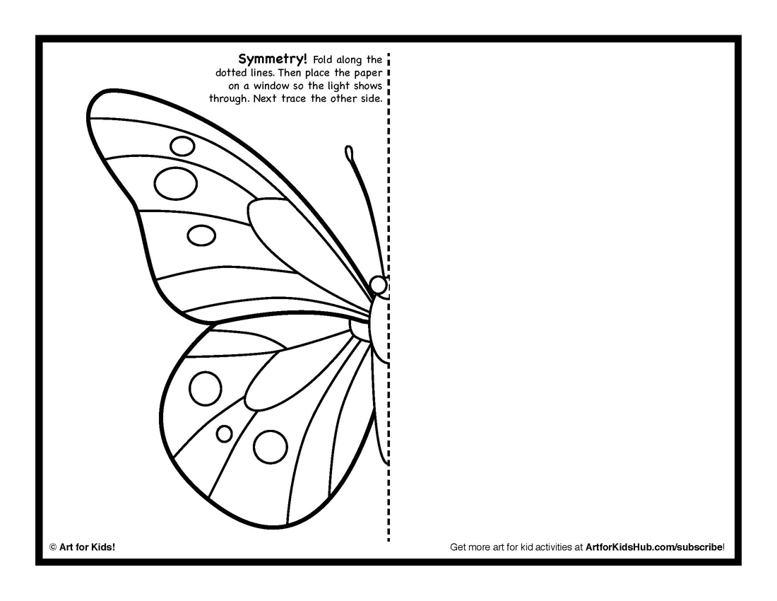 1100x850 Drawing Activity For Kids Symmetry Art Activity 5 Free Coloring