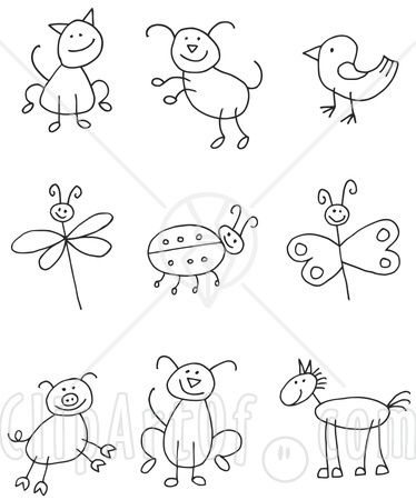 374x450 Drawing Stick Animals ~doodles, Drawings Amp Other Artsy Fun