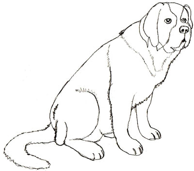 400x354 How To Draw A Dog