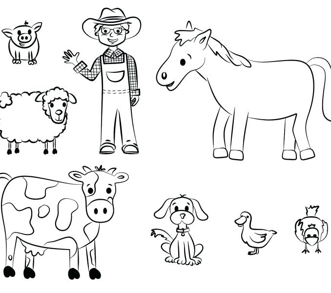 678x600 Animal Coloring Pages Free Omnitutor.co