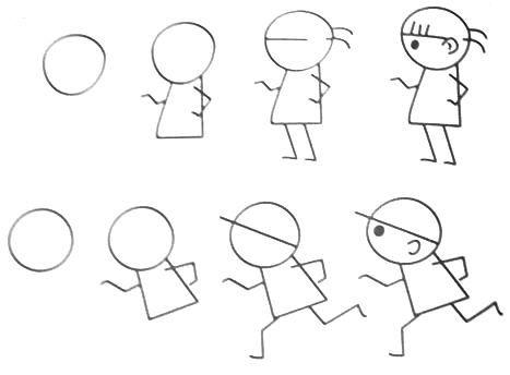 467x344 Step By Step Cartoon Drawings For Kids Best 25 Drawing Cartoon