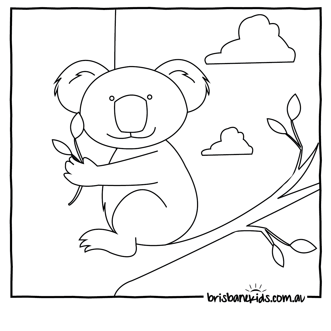 1292x1292 Australian Animals Colouring Pages Brisbane Kids