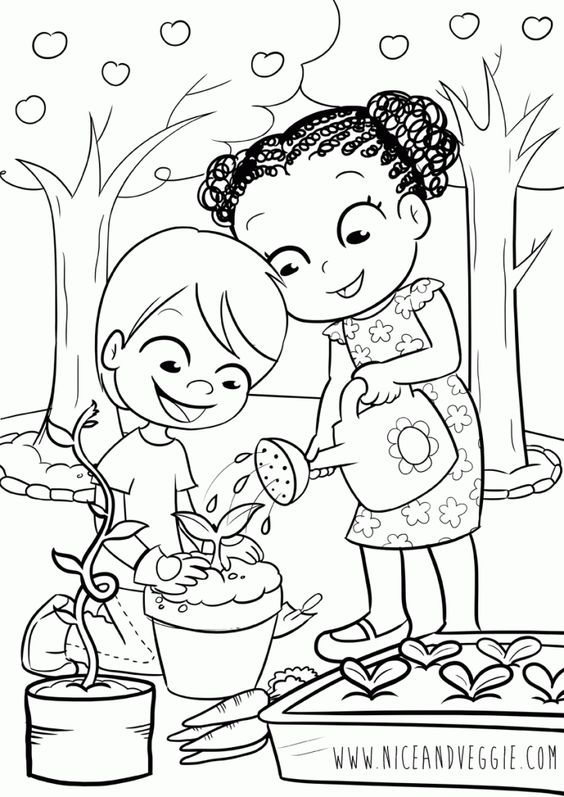 564x797 garden kids drawing