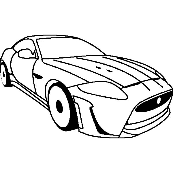 600x600 Jaguar Cars Coloring Pages For Kids Bulk Color