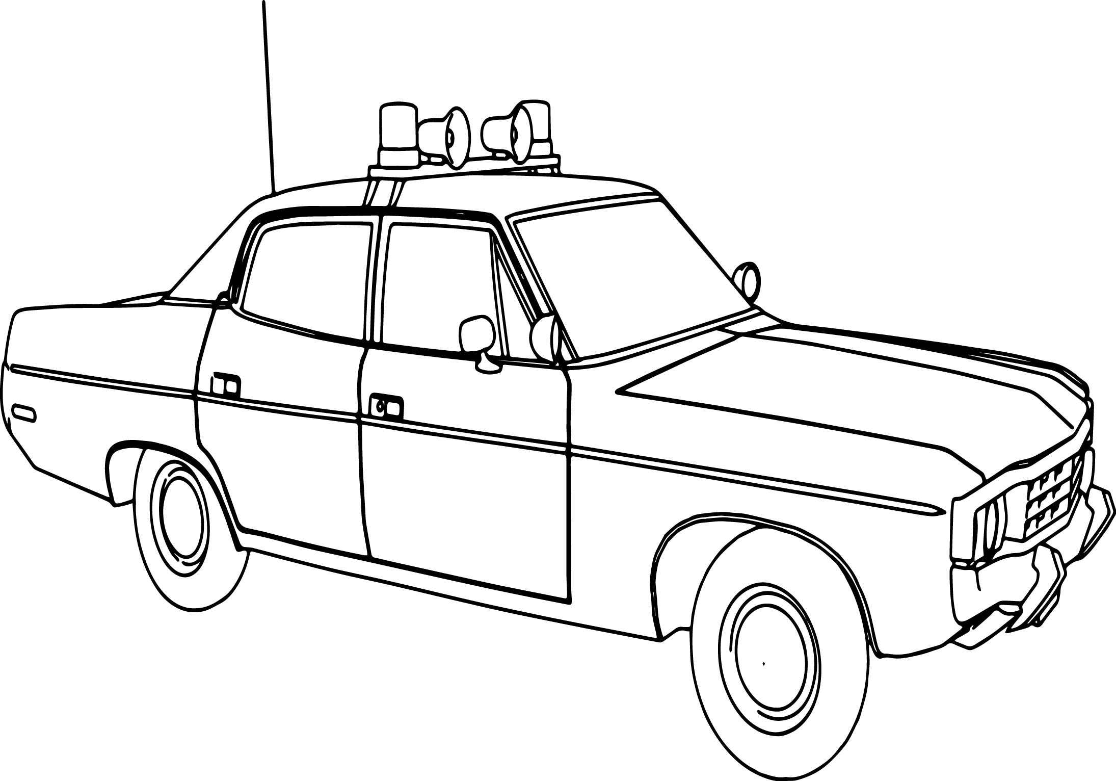 2190x1532 Police Car Transportation Coloring Pages For Kids Printable