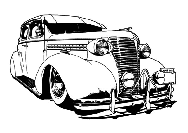 600x424 Vintage Car Coloring Lesson Kids Coloring Page Coloring Lesson