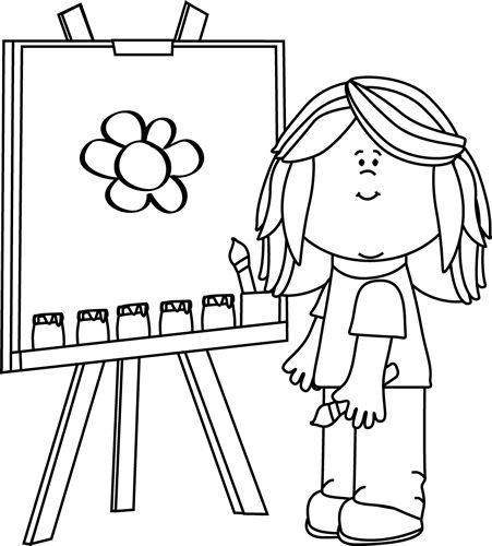 451x500 Kids Drawing Clipart Black And White Letters Example