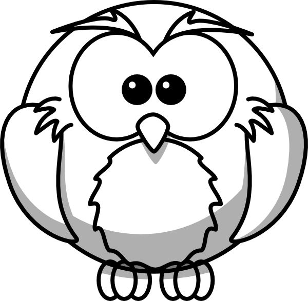 600x587 Drawings Of Owls Owl Outline Clip Art