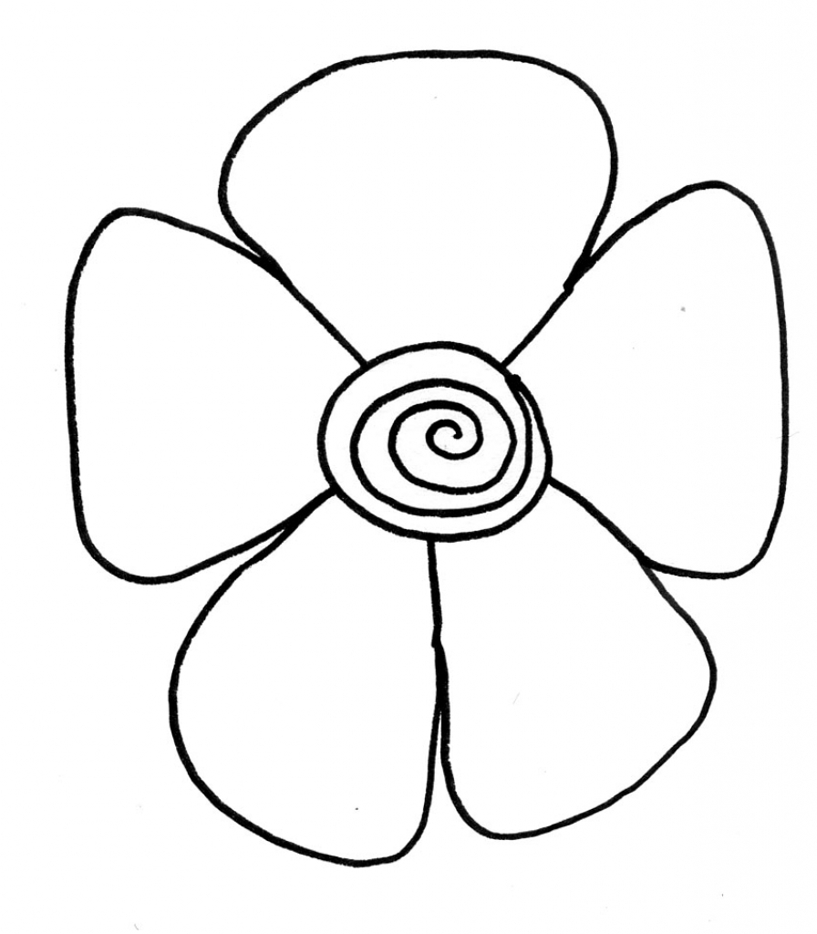 896x1024 Drawing Flower For Kids Simple Flower Drawings For Kids Clipart