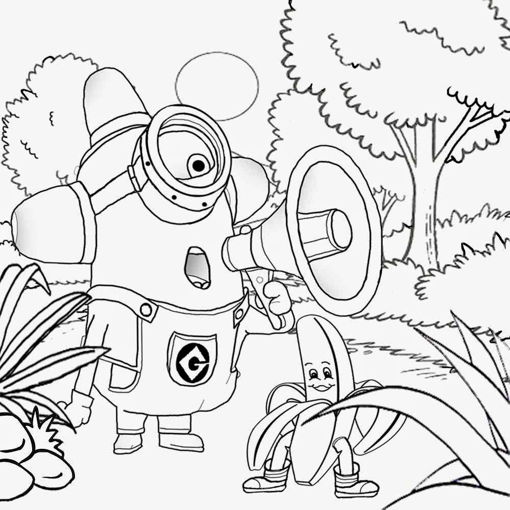 1000x1000 Minions Coloring Pages For Older Kids Colouring To Cure Draw Image