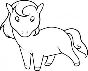 302x245 Coloring Pages Horse Drawing For Kids 8ng How To Draw A Step 8