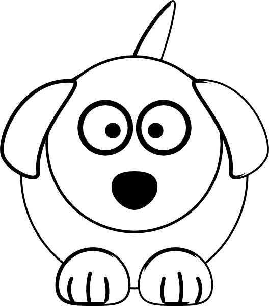 528x599 Cute Dog Coloring Page For Kids