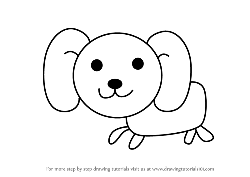 800x567 Learn How To Draw A Dog For Kids (Animals For Kids) Step By Step