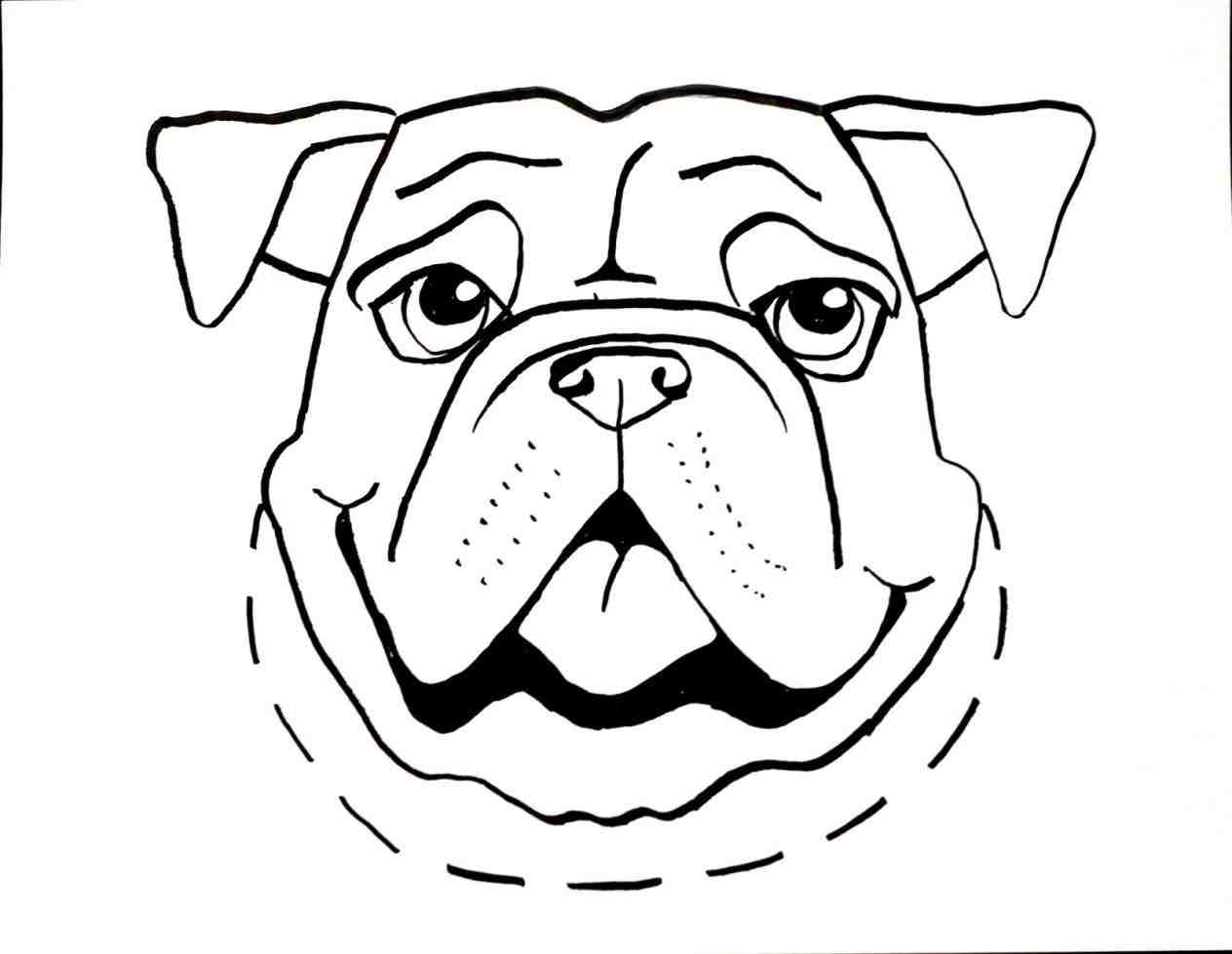 1264x979 The Images Collection Of Dog Drawing For Kids A Mastiff