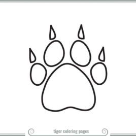 268x268 Bold Design Dog Paw Coloring Page Coloring Pages Boy Scouts Kids