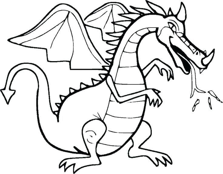736x575 Chinese Dragon Coloring Pages New Year Dragon Drawing Dragon