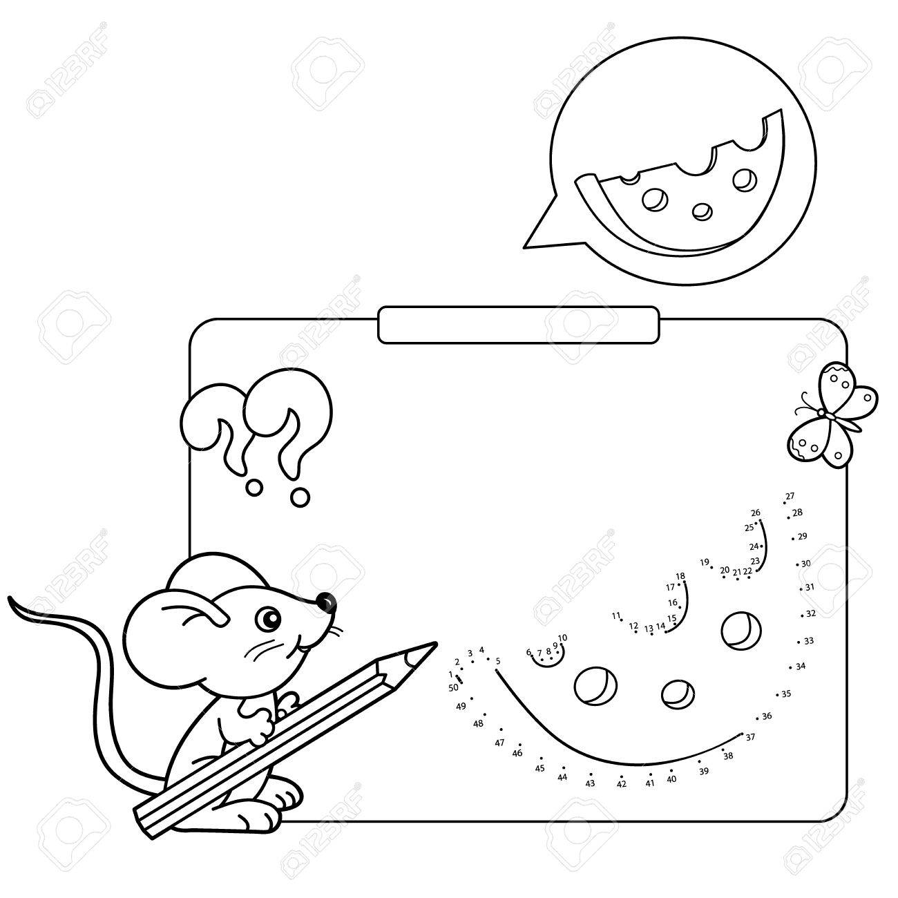 1300x1300 Educational Games For Kids Numbers Game. Cheese. Coloring Page