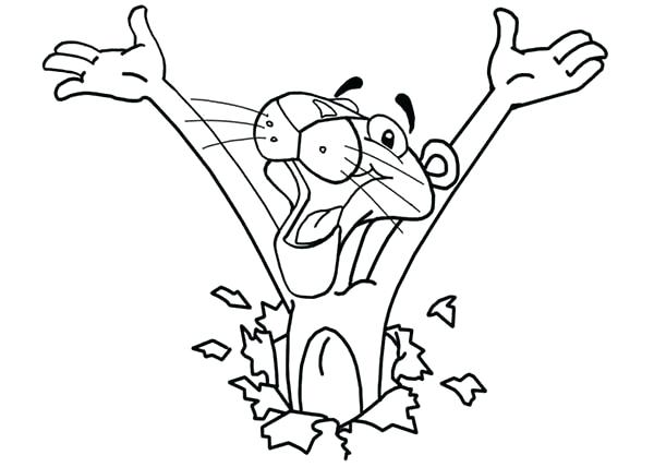 600x428 Pink Panther Coloring Games Pink Panther Coloring Pages For Kids