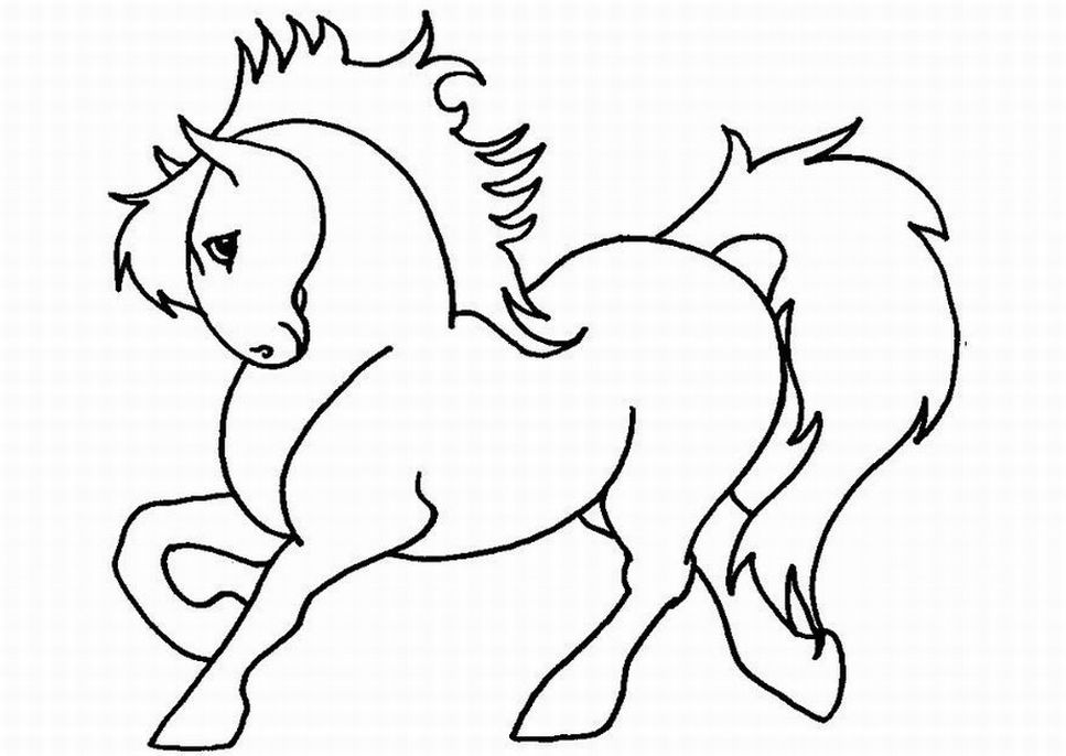 967x686 Horse Pictures To Color And Print 436486