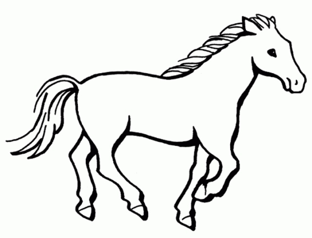 640x489 Coloring Pages Horse Drawing For Kids Awesome To Do Simple How