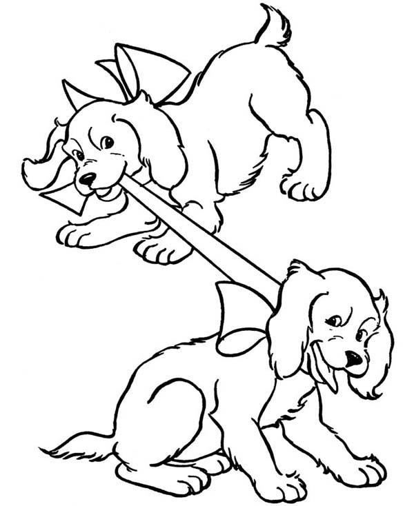 600x734 Dog Coloring Pages For Kids 2