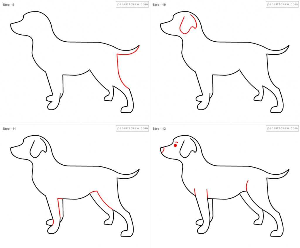1024x845 How Draw A Dog For Kids How