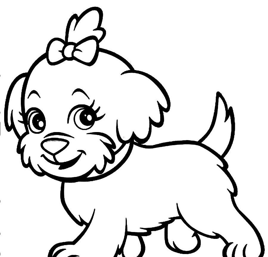 900x864 Unique Puppy Dog Coloring Pages Printable Dogs Free Animals Online