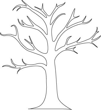 342x371 How To Create A Tree Mural Tree Outline, Kids Colouring