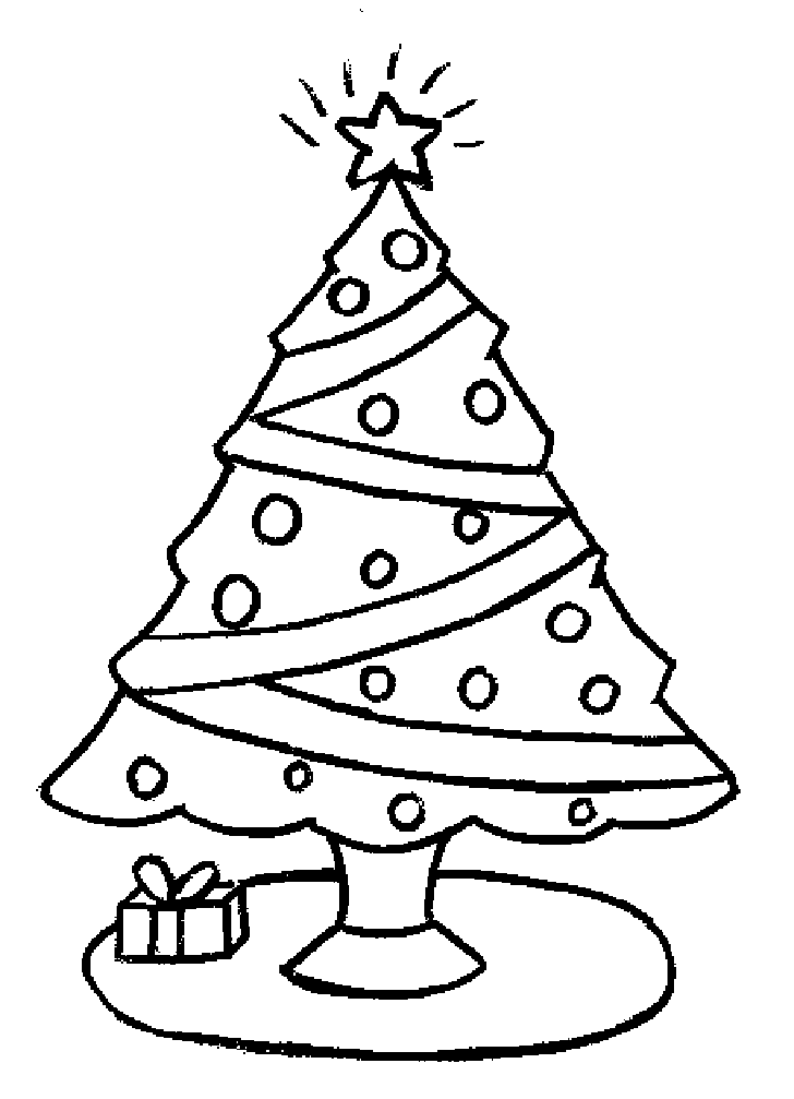 728x1007 christmas tree drawing ideas for kids - Coloring Pages Of Christmas Trees 3