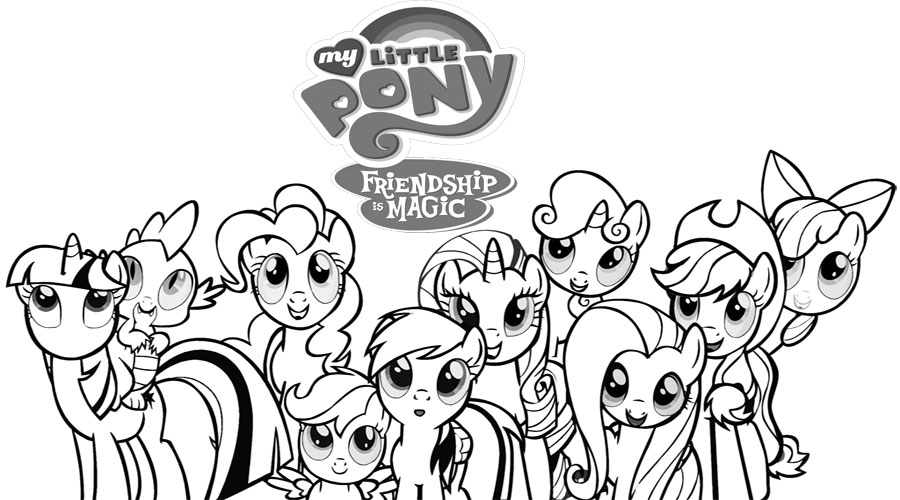 900x500 My Little Pony Coloring Pages For Kids Coloring Pages For Kids